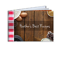 80 Page Hardcover A4 Landscape Recipe Book incl Delivery